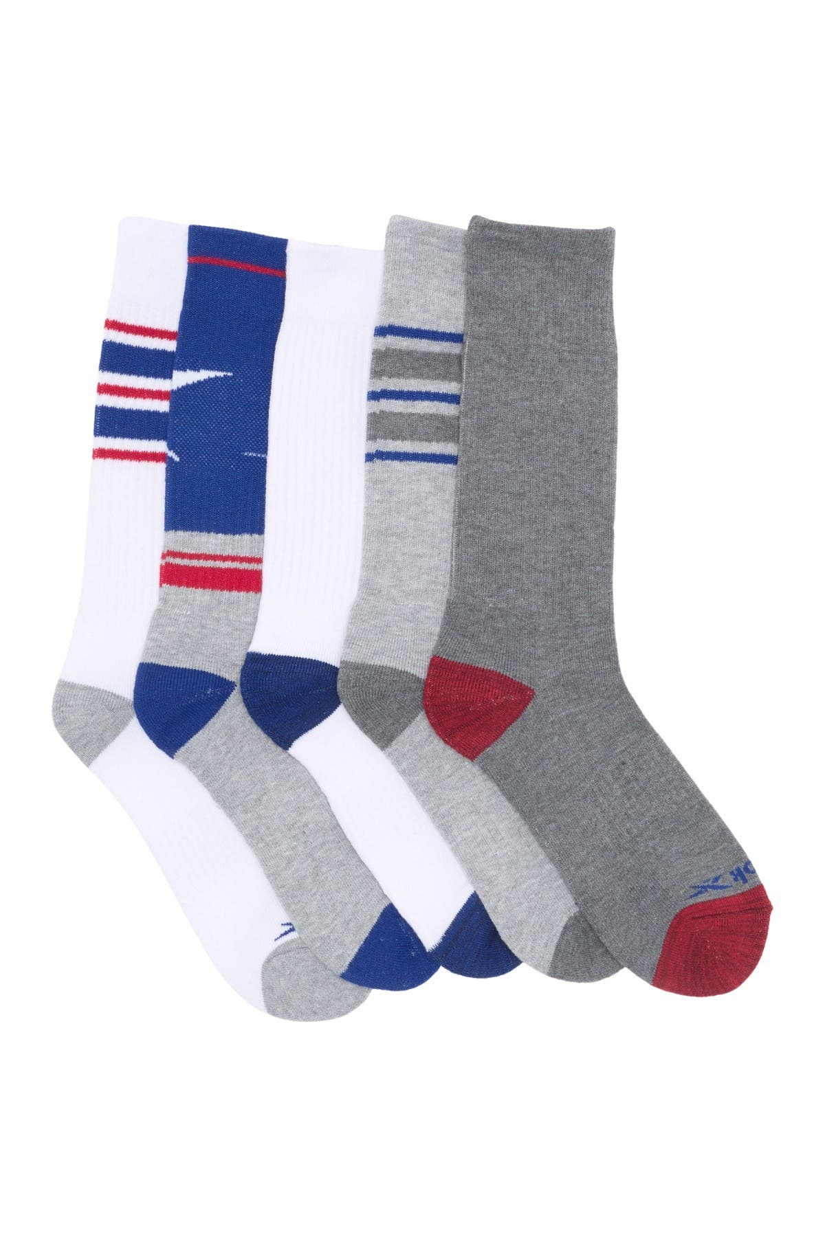 Image of Reebok Assorted Crew Socks - Pack of 5
