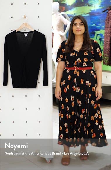 V-Neck Wool & Silk Cardigan, sales video thumbnail
