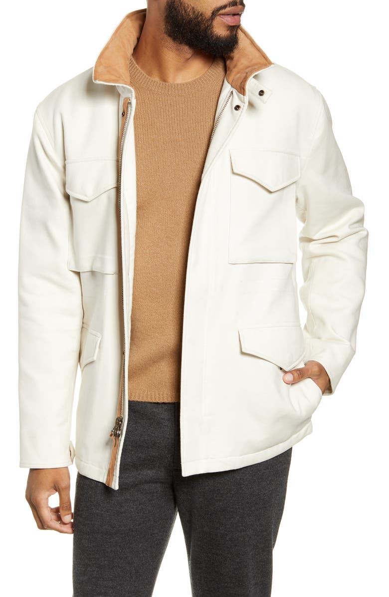 VINCE Slim Fit Field Jacket, Main, color, LECHE