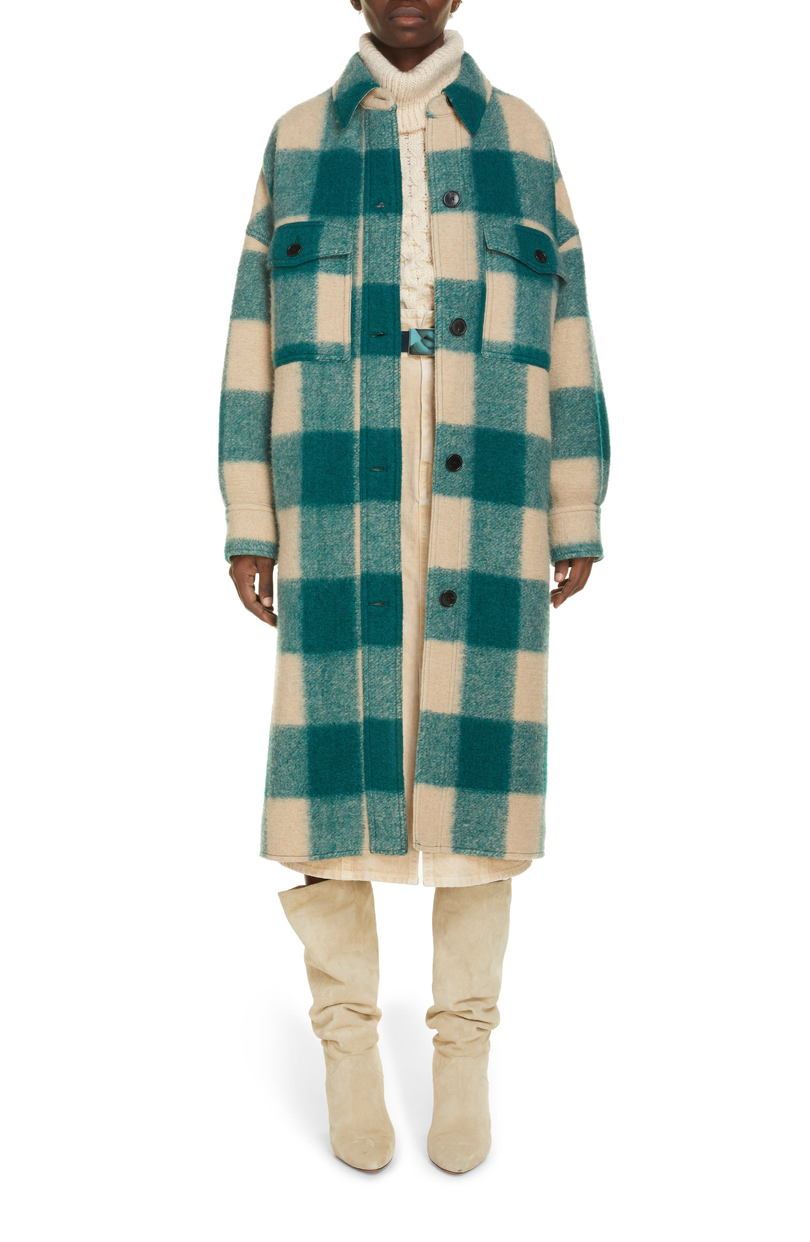 Women's Isabel Marant Etoile Fontizi Buffalo Plaid Coat