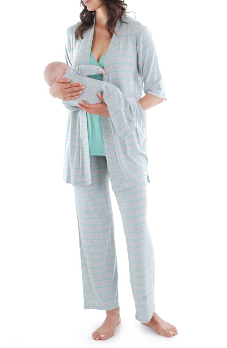 54acc5c4fc742 Everly Grey Roxanne - During & After 5-Piece Maternity Sleepwear Set ...