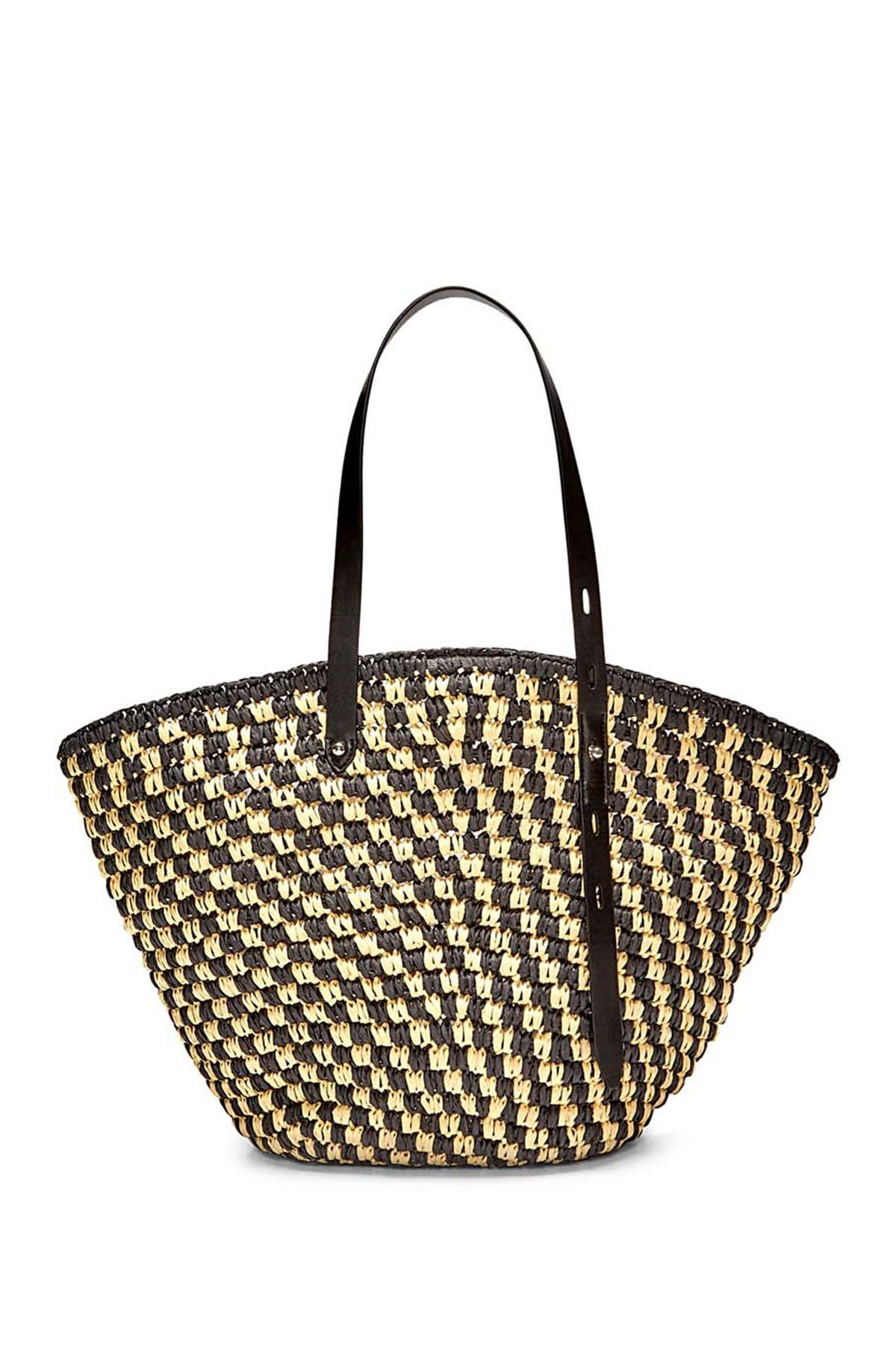 Image of Rebecca Minkoff Fan Woven Straw Tote Bag