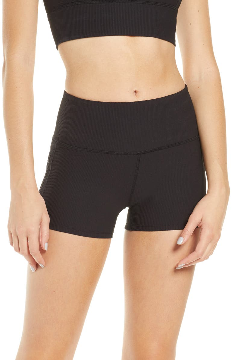 FREE PEOPLE FP MOVEMENT Ride With Me Bike Shorts, Main, color, BLACK
