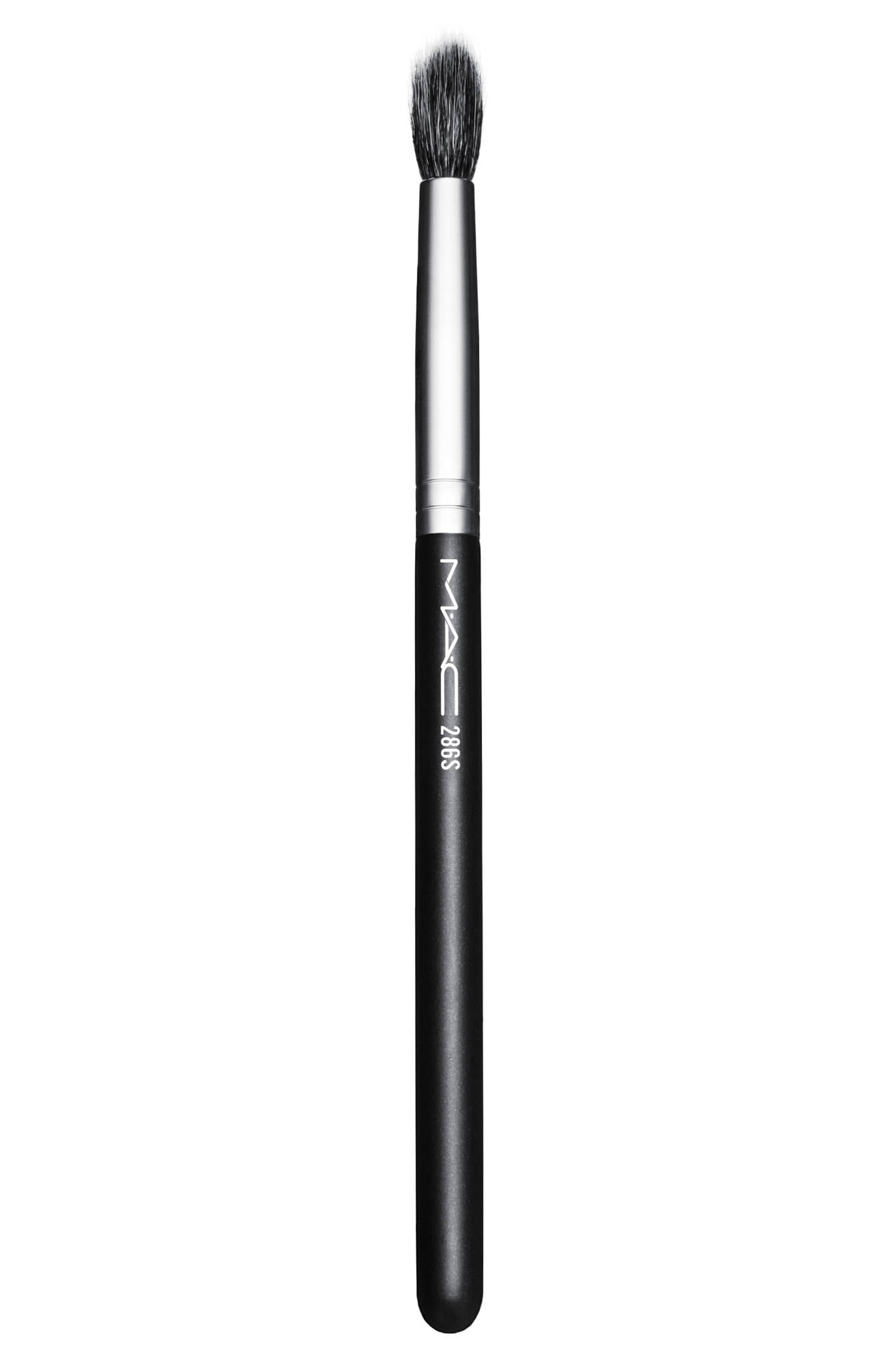 ,                             MAC 286S Synthetic Duo Fibre Tapered Brush,                             Main thumbnail 1, color,                             NO COLOR