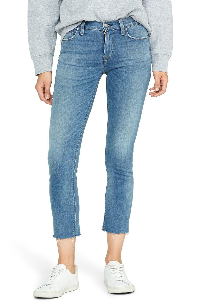 HUDSON JEANS Nico Fray Hem Crop Straight Leg Jeans, Main, color, LOVESICK