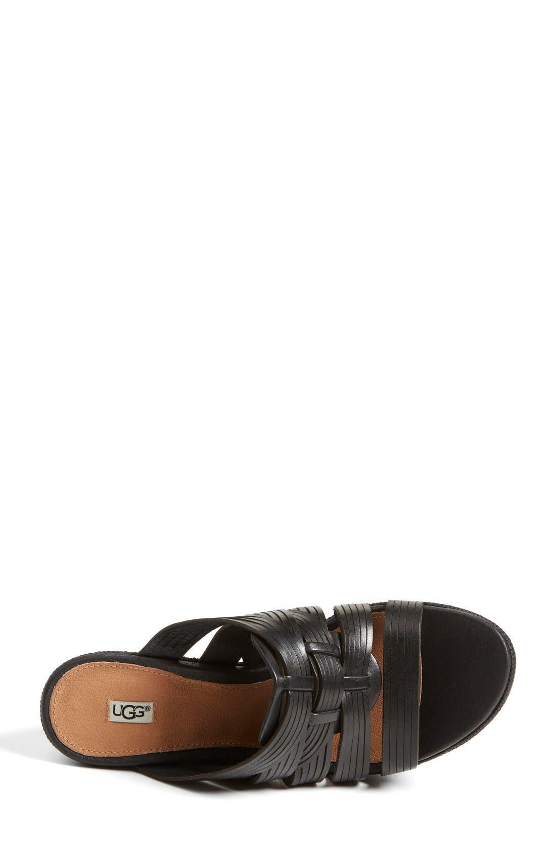 ,                             'Melinda' Platform Wedge Sandal,                             Alternate thumbnail 4, color,                             001