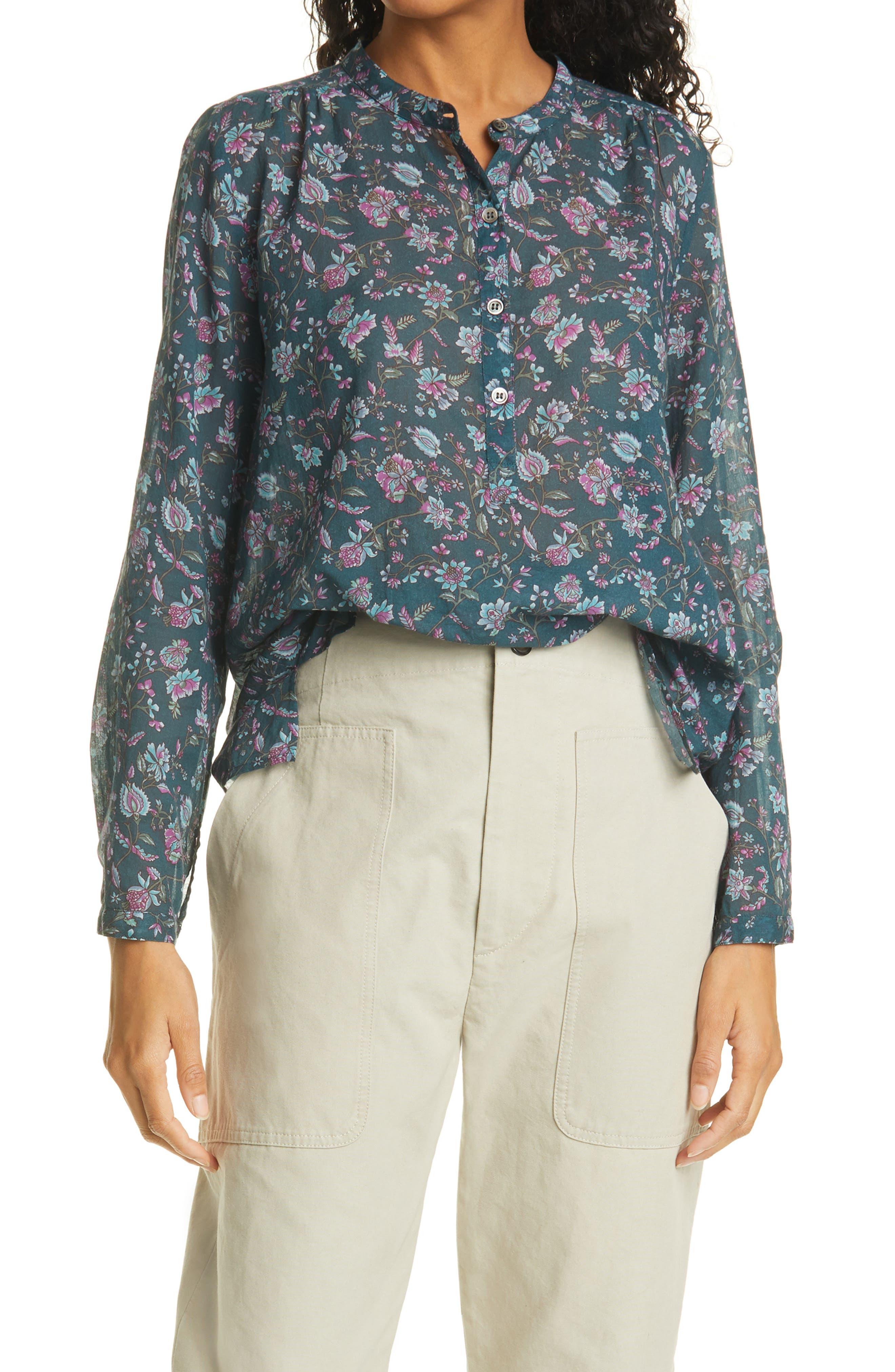 Women's Isabel Marant Etoile Maria Floral Print Cotton Shirt