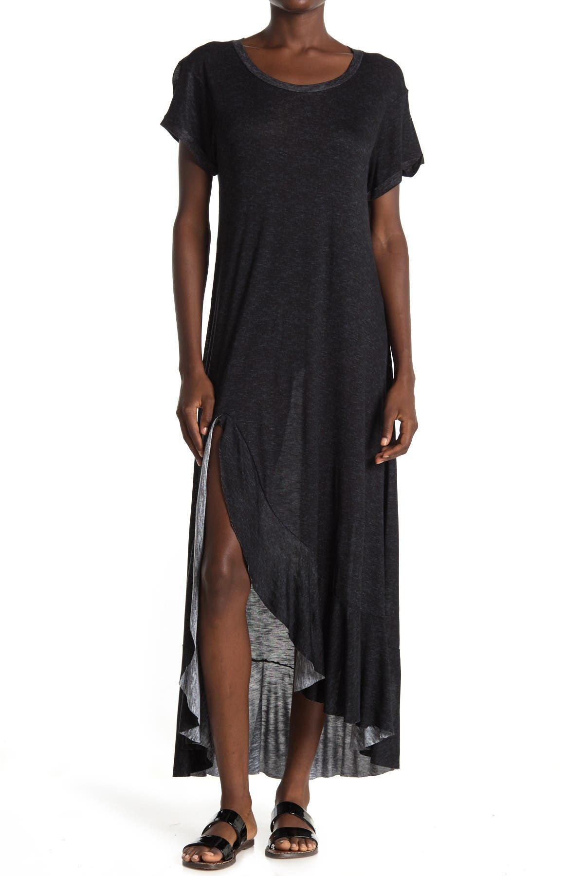 Image of WEST KEI Slub Knit Maxi T-Shirt Dress