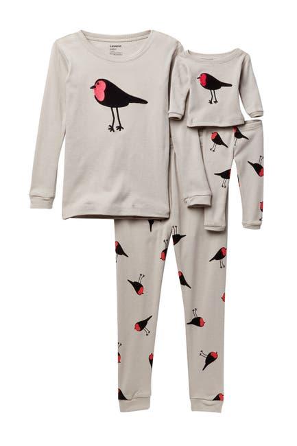 Image of Leveret Bird Pajama & Matching Doll Pajama Set