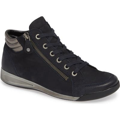 Ara Rylee High Top Sneaker, Blue