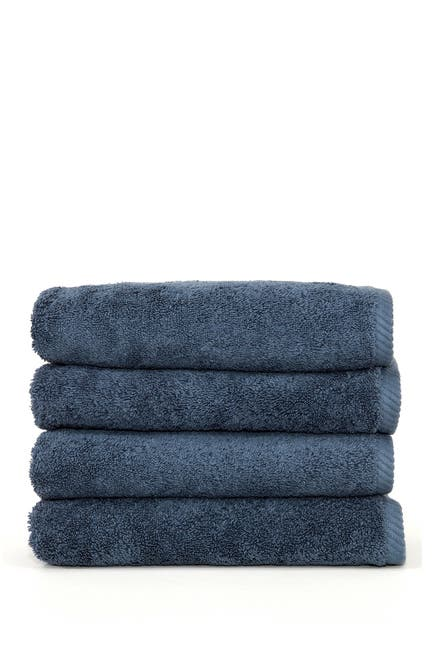 Image of LINUM HOME Midnight Blue Soft Twist Hand Towels - Set of 4