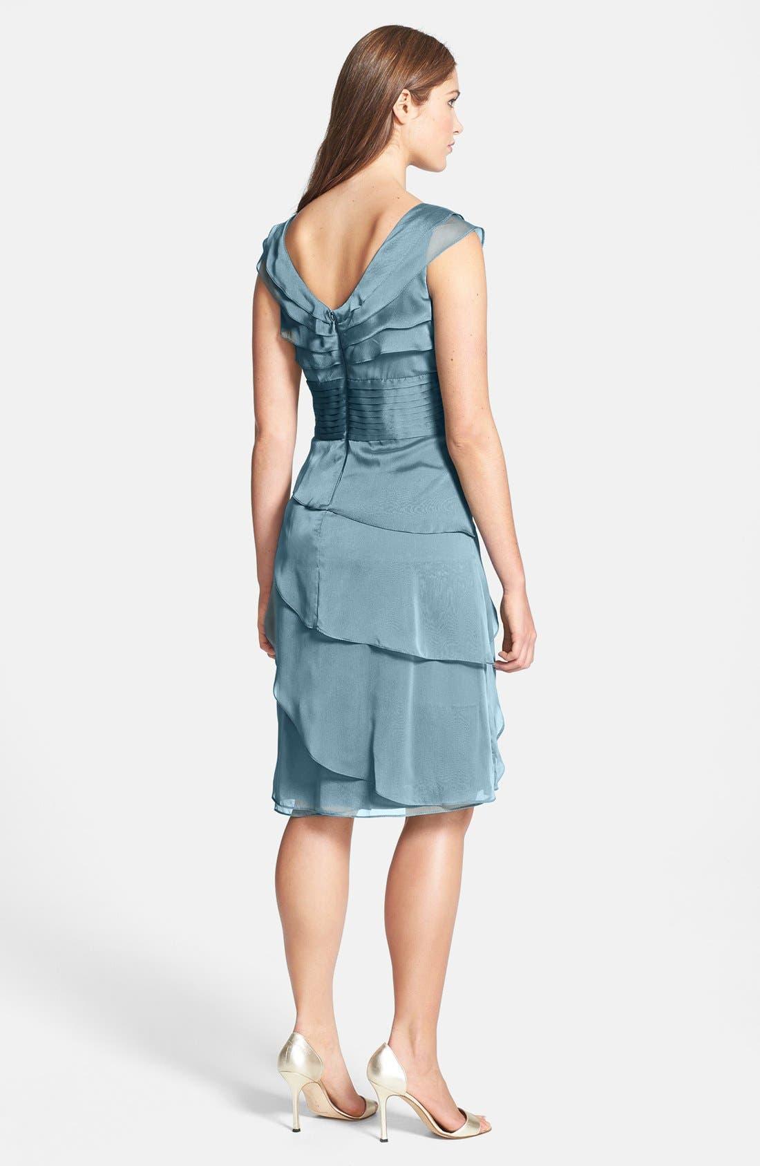 ,                             Tiered Chiffon Dress,                             Alternate thumbnail 26, color,                             440