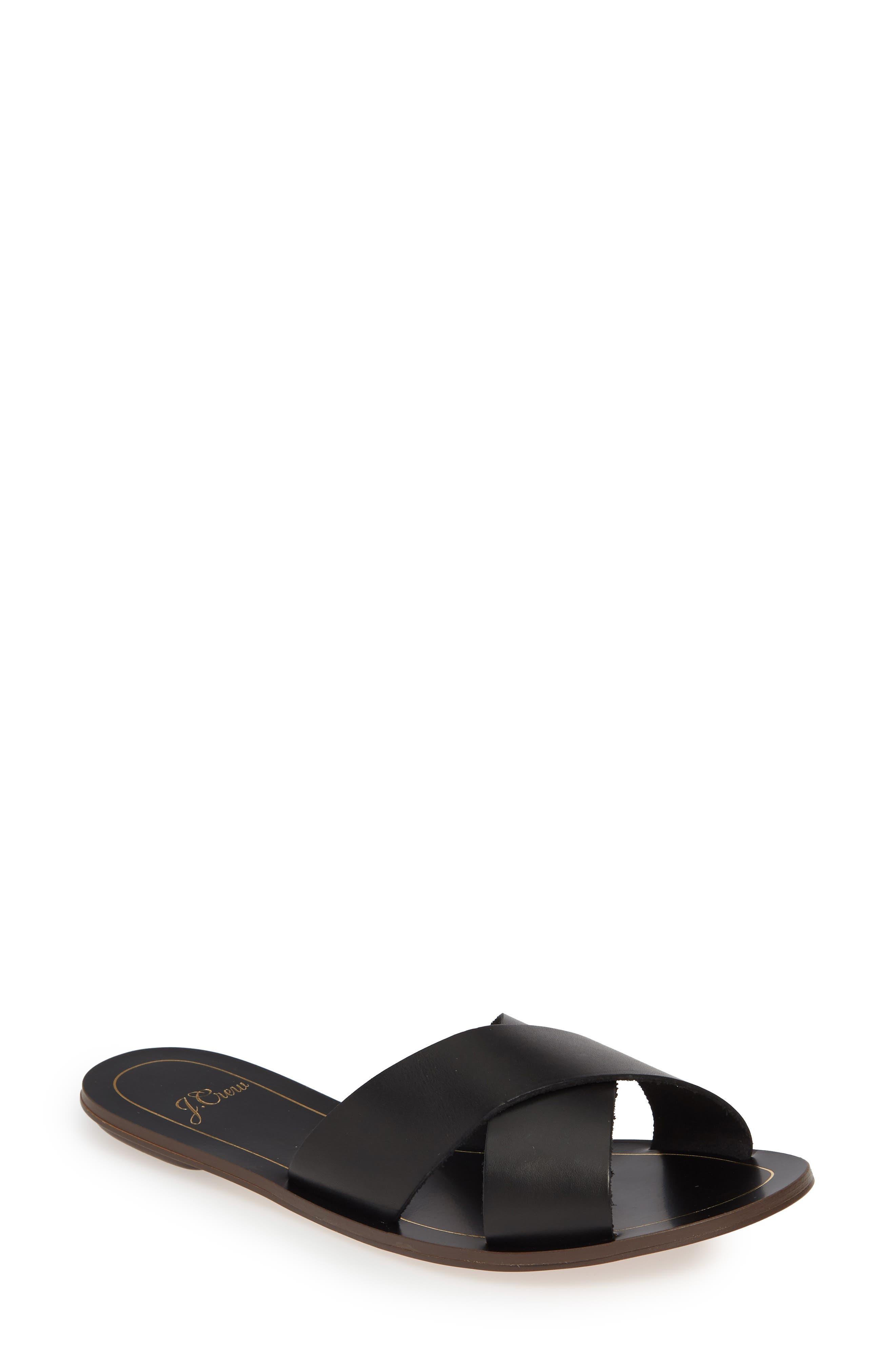 Cyprus Slide Sandal, Main, color, BLACK