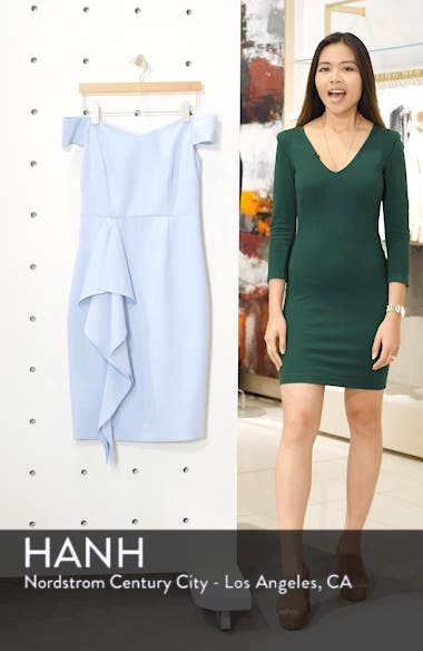Off the Shoulder Front Ruffle Cocktail Dress, sales video thumbnail
