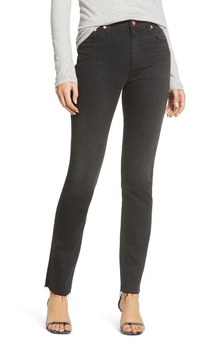 AG Mari High Waist Raw Hem Ankle Skinny Jeans, Main, color, 02Y SOMBER