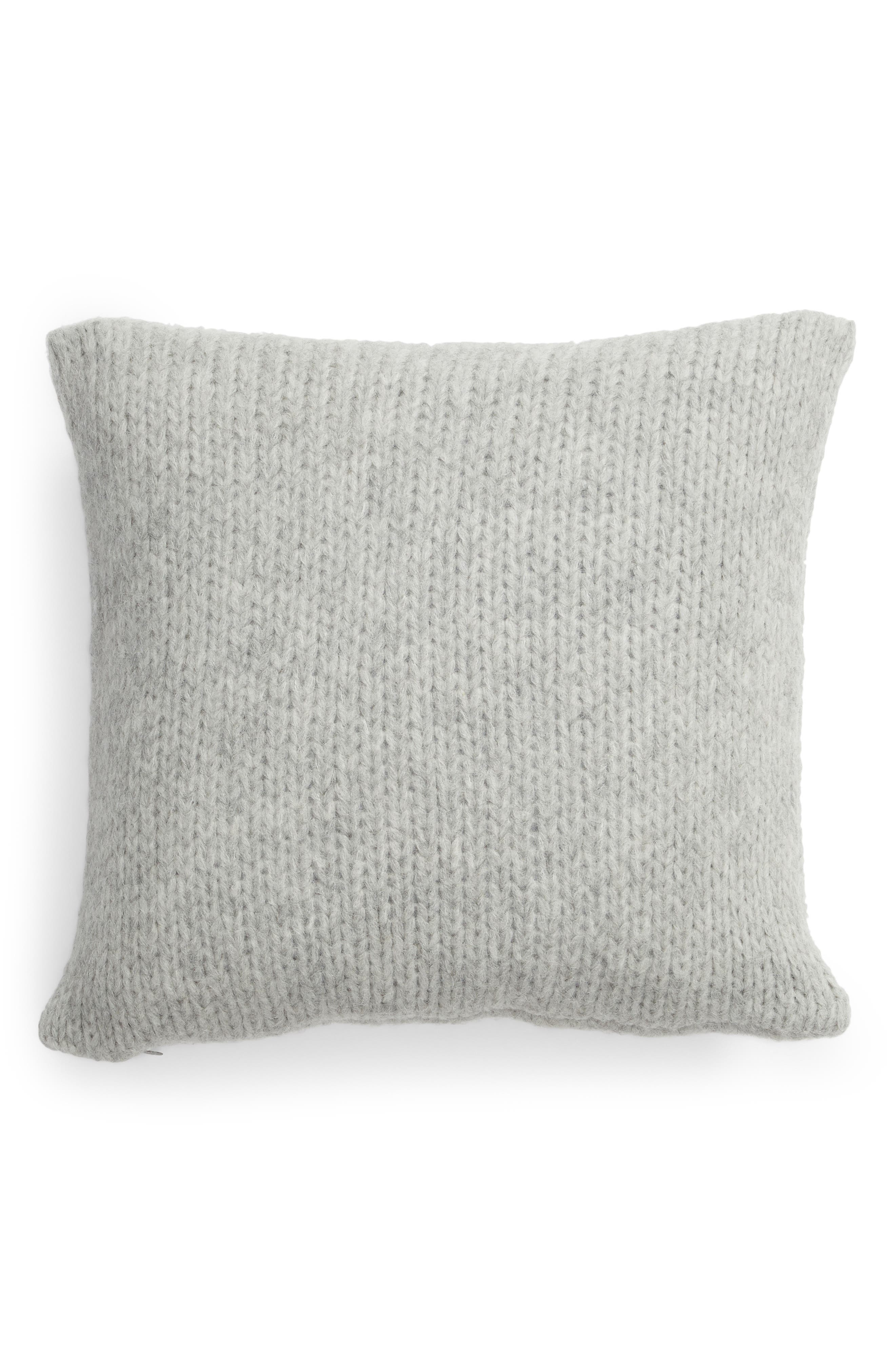 ,                             Chunky Knit Alpaca Blend Accent Pillow,                             Alternate thumbnail 2, color,                             GREY HEATHER