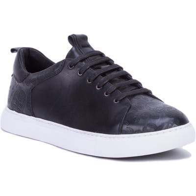 Robert Graham Sanderson Embossed Sneaker- Black