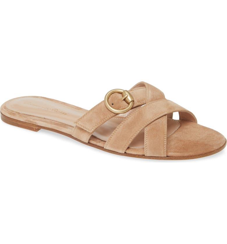 GIANVITO ROSSI Buckle Strap Sandal, Main, color, SAHARA