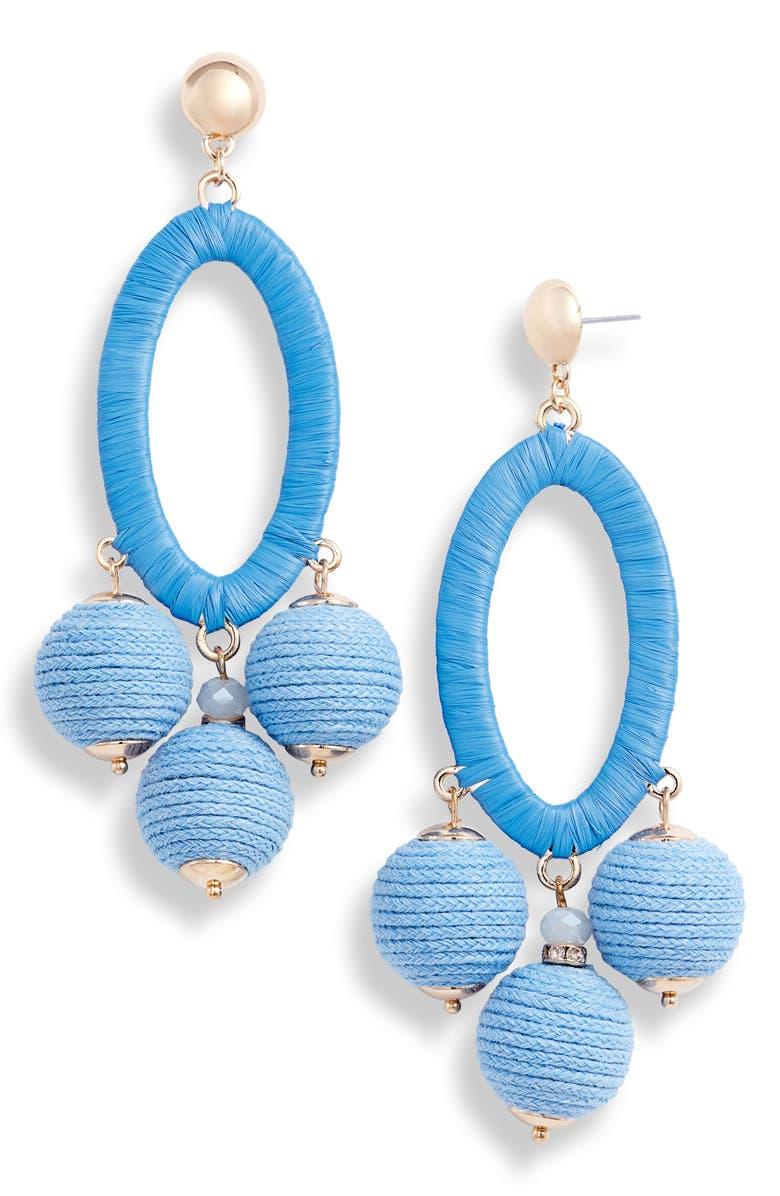 RACHEL PARCELL Statement Drop Earrings, Main, color, 420