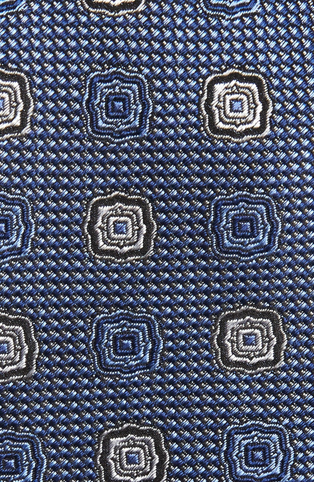 ,                             Medallion Silk X-Long Tie,                             Alternate thumbnail 2, color,                             BLUE