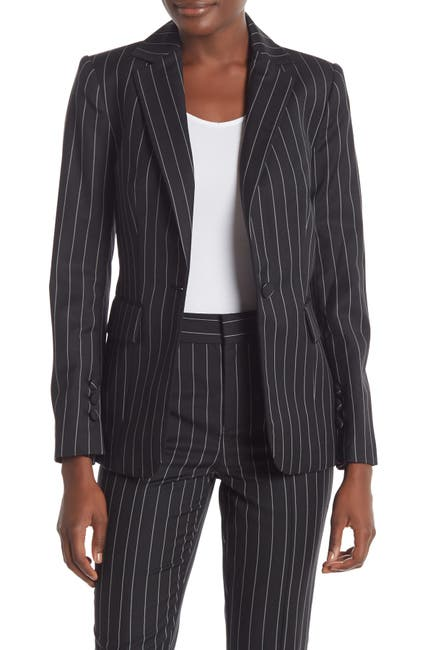 Image of FRAME Pinstripe Classic Wool Blend Blazer