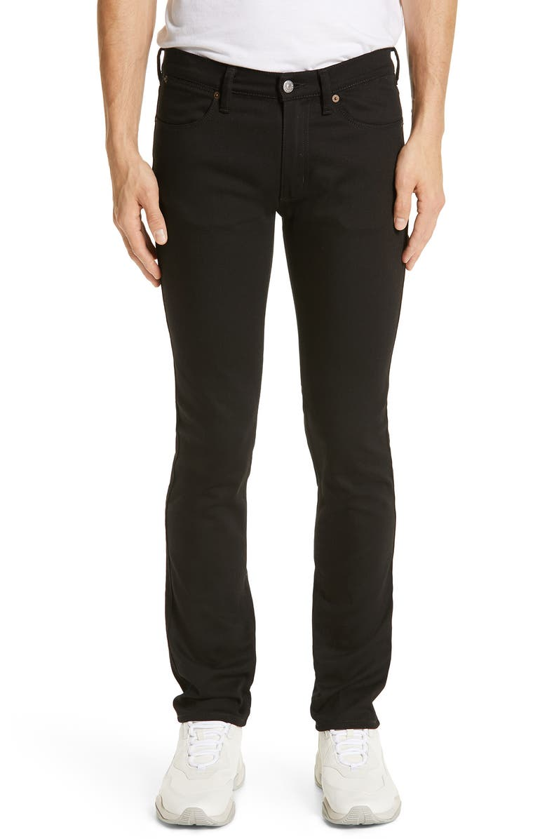 ACNE STUDIOS River Used Mamba Skinny Fit Jeans, Main, color, BLACK