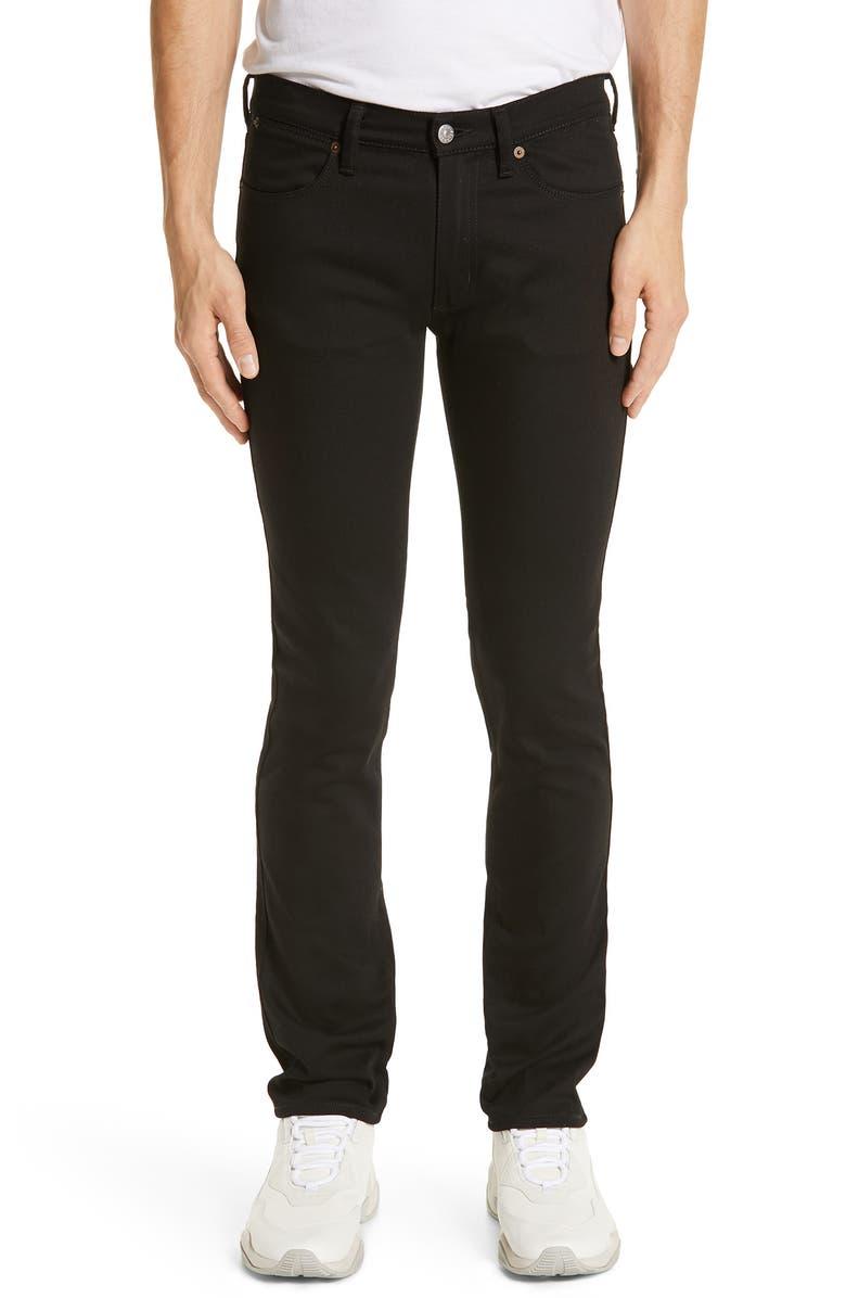 ACNE STUDIOS River Used Mamba Skinny Fit Jeans, Main, color, BLACK