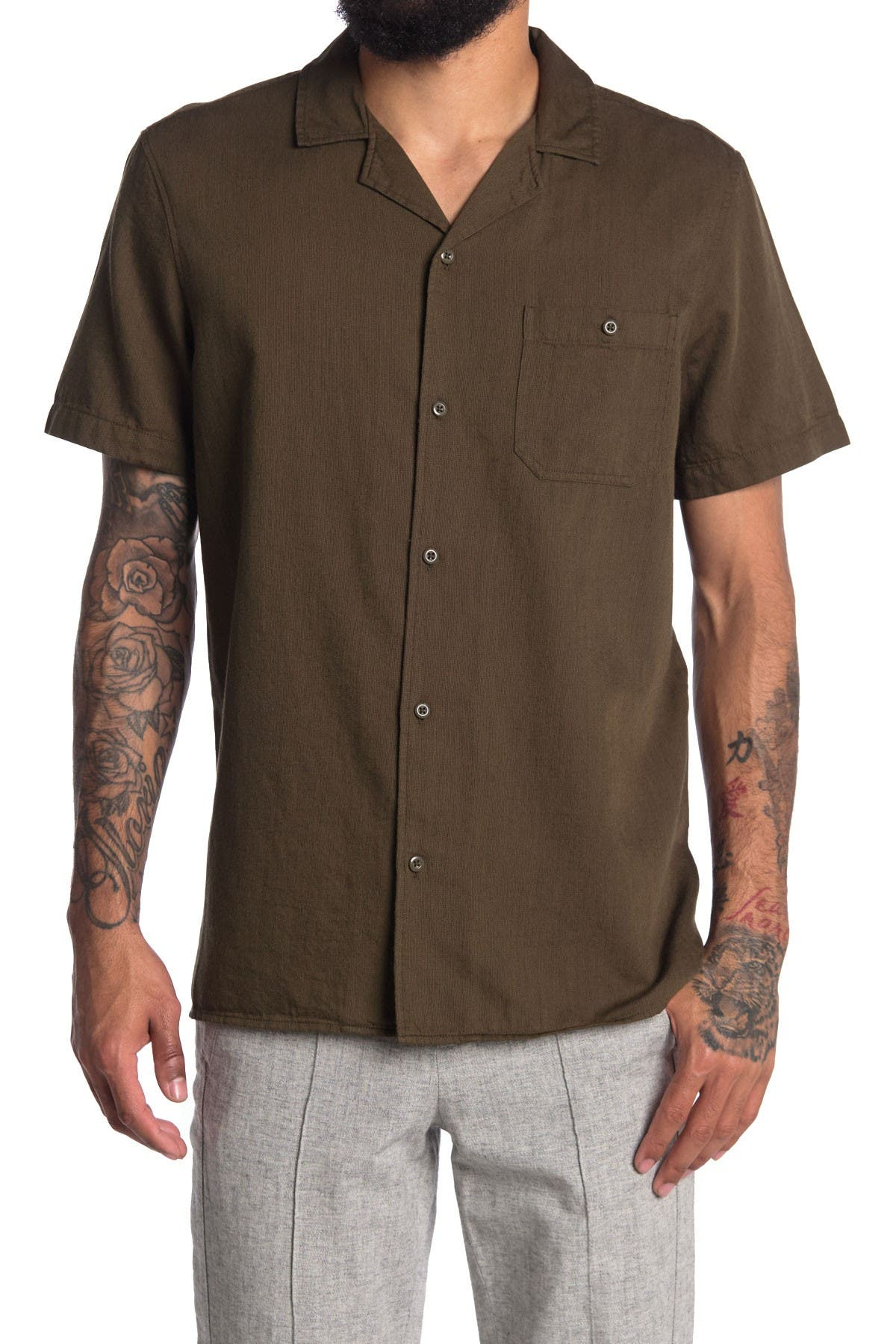 Image of Abound Short Sleeve Camp Collar Regular Fit Shirt