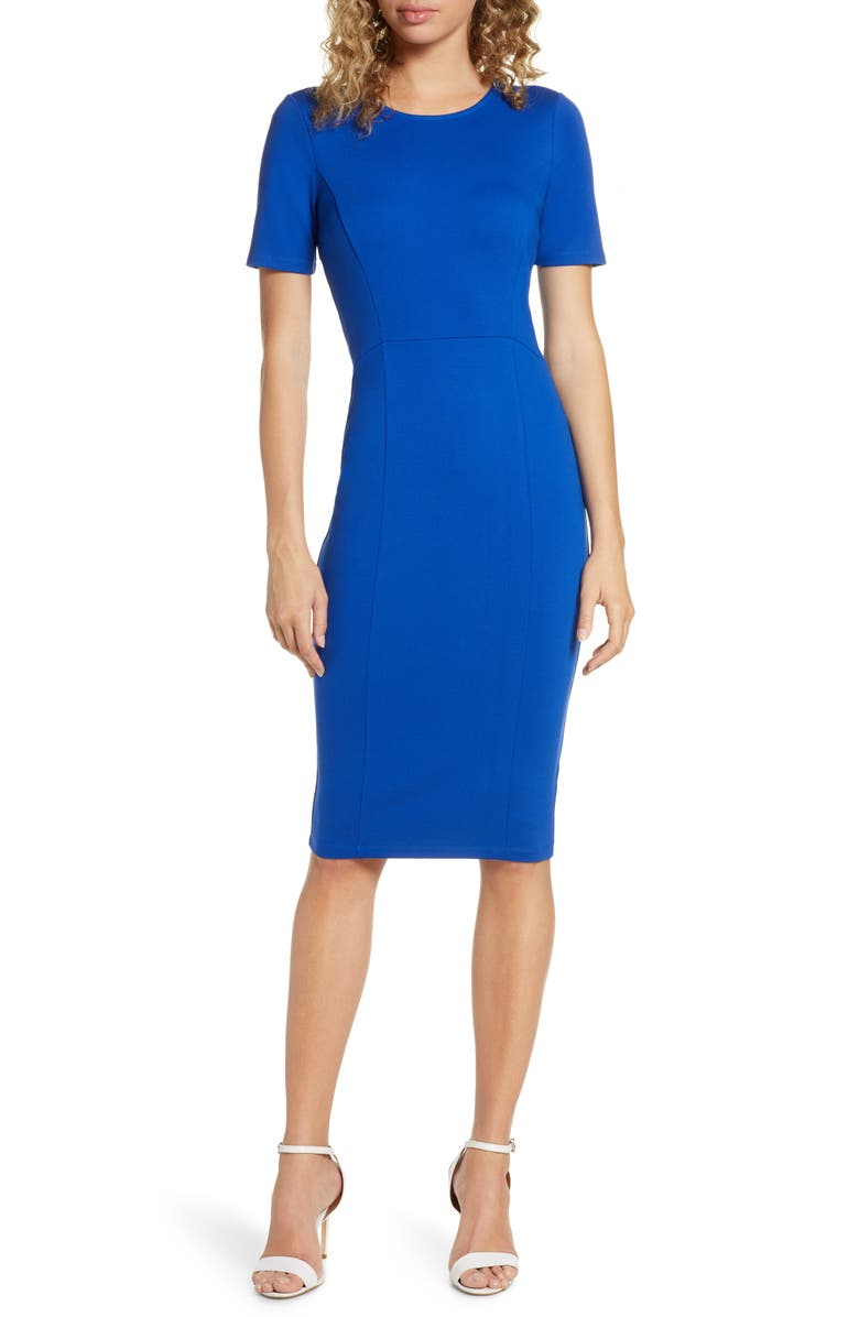 ALI & JAY Zip Back Sheath Dress, Main, color, COBALT