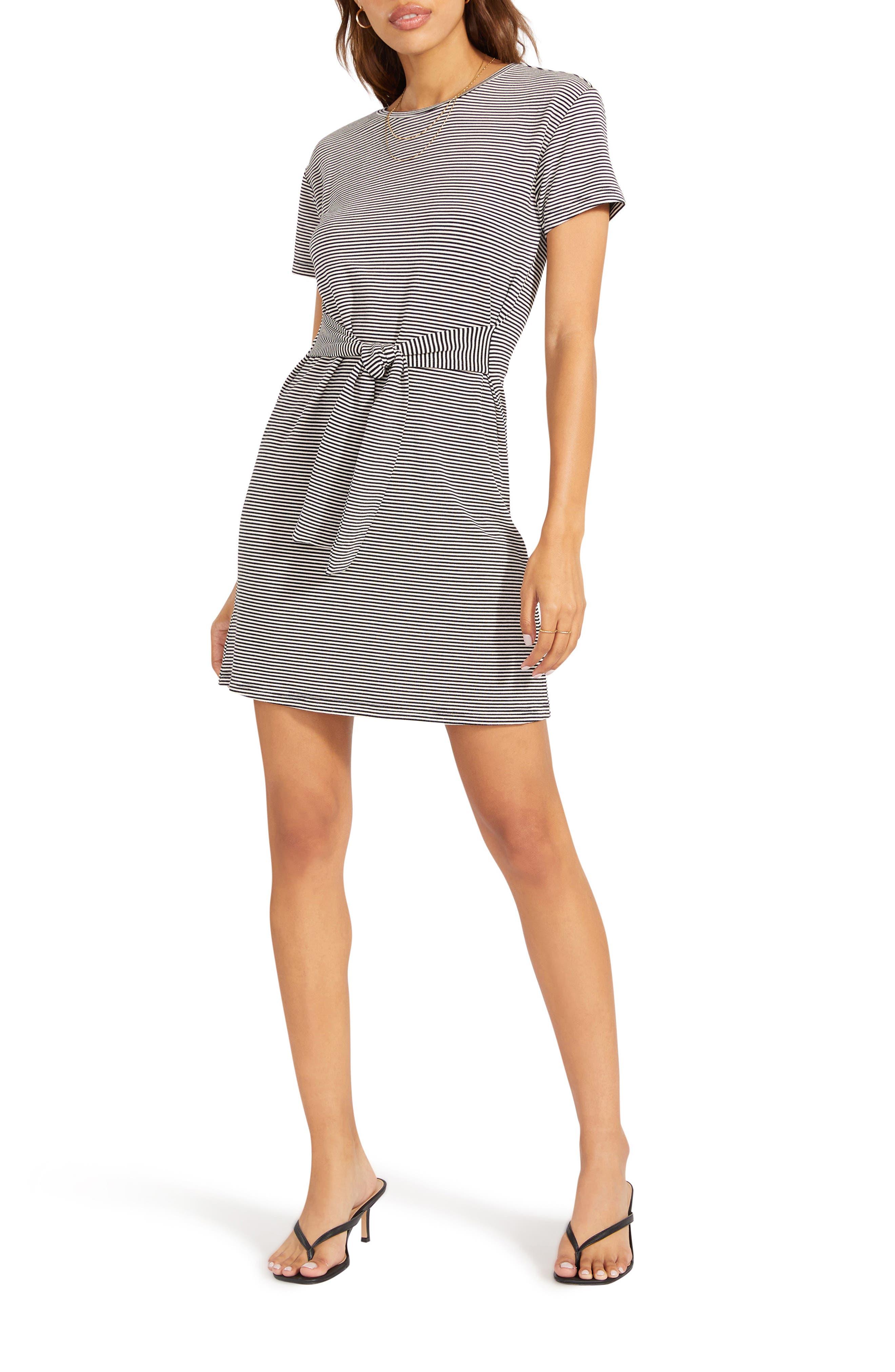 Desire Lines Stripe T-Shirt Dress