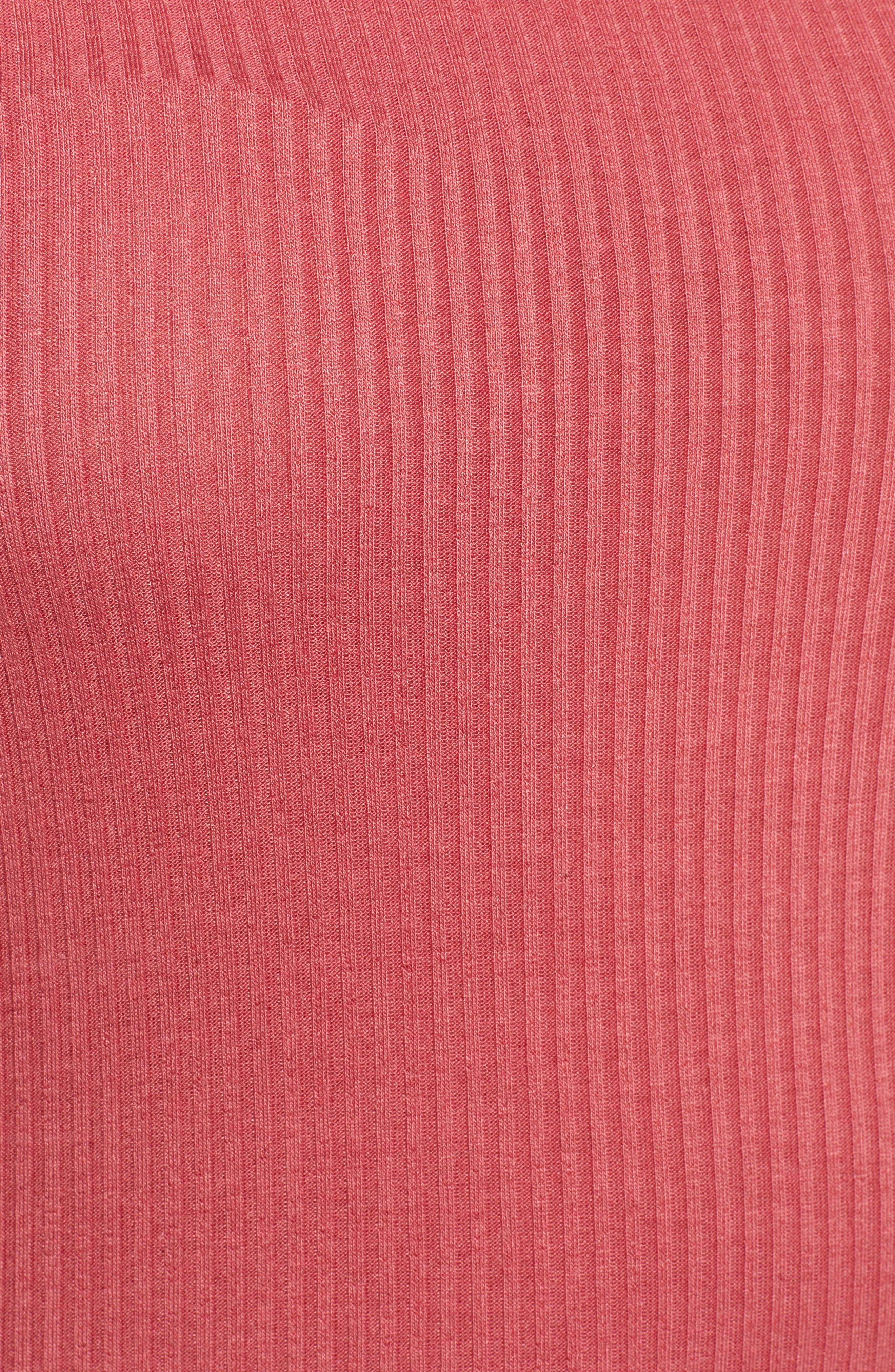 ,                             Square Neck Ribbed Tee,                             Alternate thumbnail 5, color,                             630