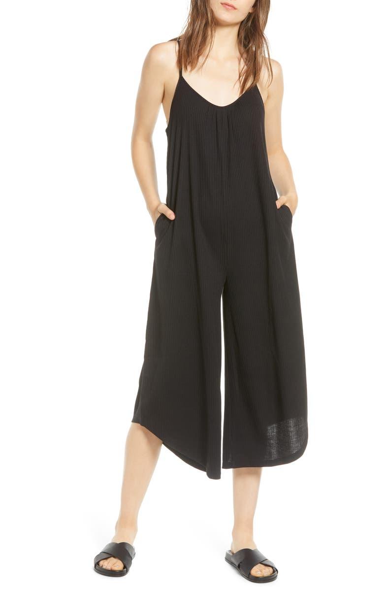 LIRA CLOTHING Alyssa Ribbed Jumpsuit, Main, color, 001