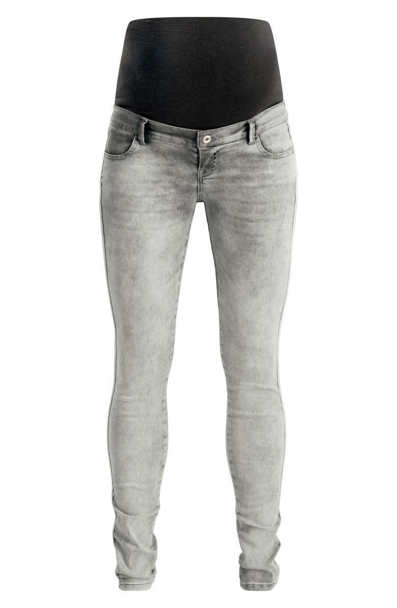 NOPPIES Avi Skinny Over the Belly Maternity Jeans, Main, color, GREY DENIM