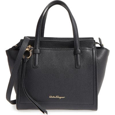 Salvatore Ferragamo Small Amy Pebbled Leather Tote -