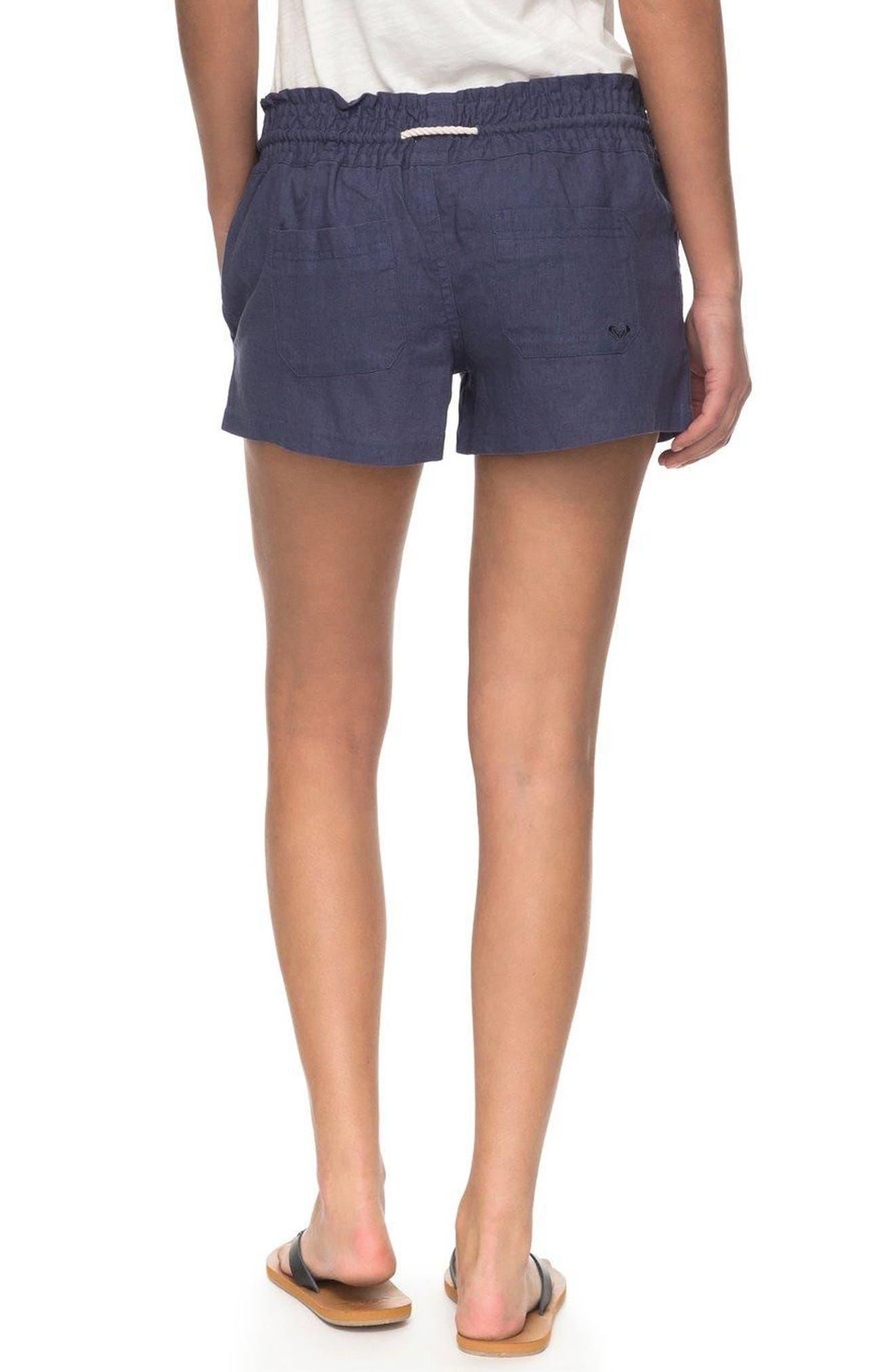 ,                             'Oceanside' Linen Blend Shorts,                             Alternate thumbnail 8, color,                             412