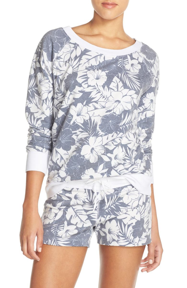 LOVE+GRACE Floral Print French Terry Sweatshirt, Main, color, 401