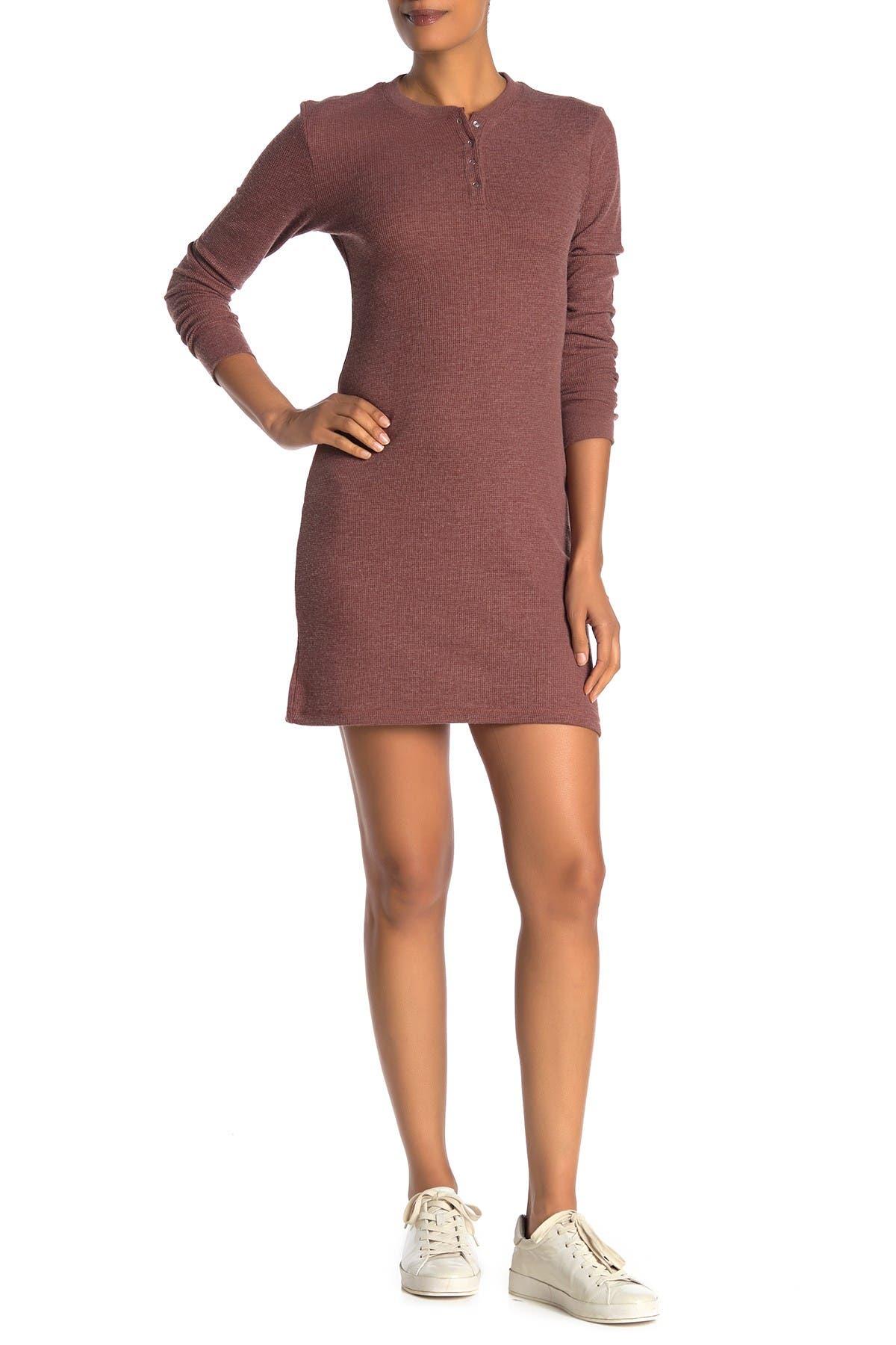 Image of Alternative Thermal Long Sleeve Henley Dress