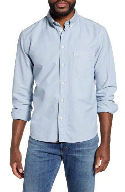 Image of Billy Reid Tuscumbia Solid Slim Fit Oxford Shirt