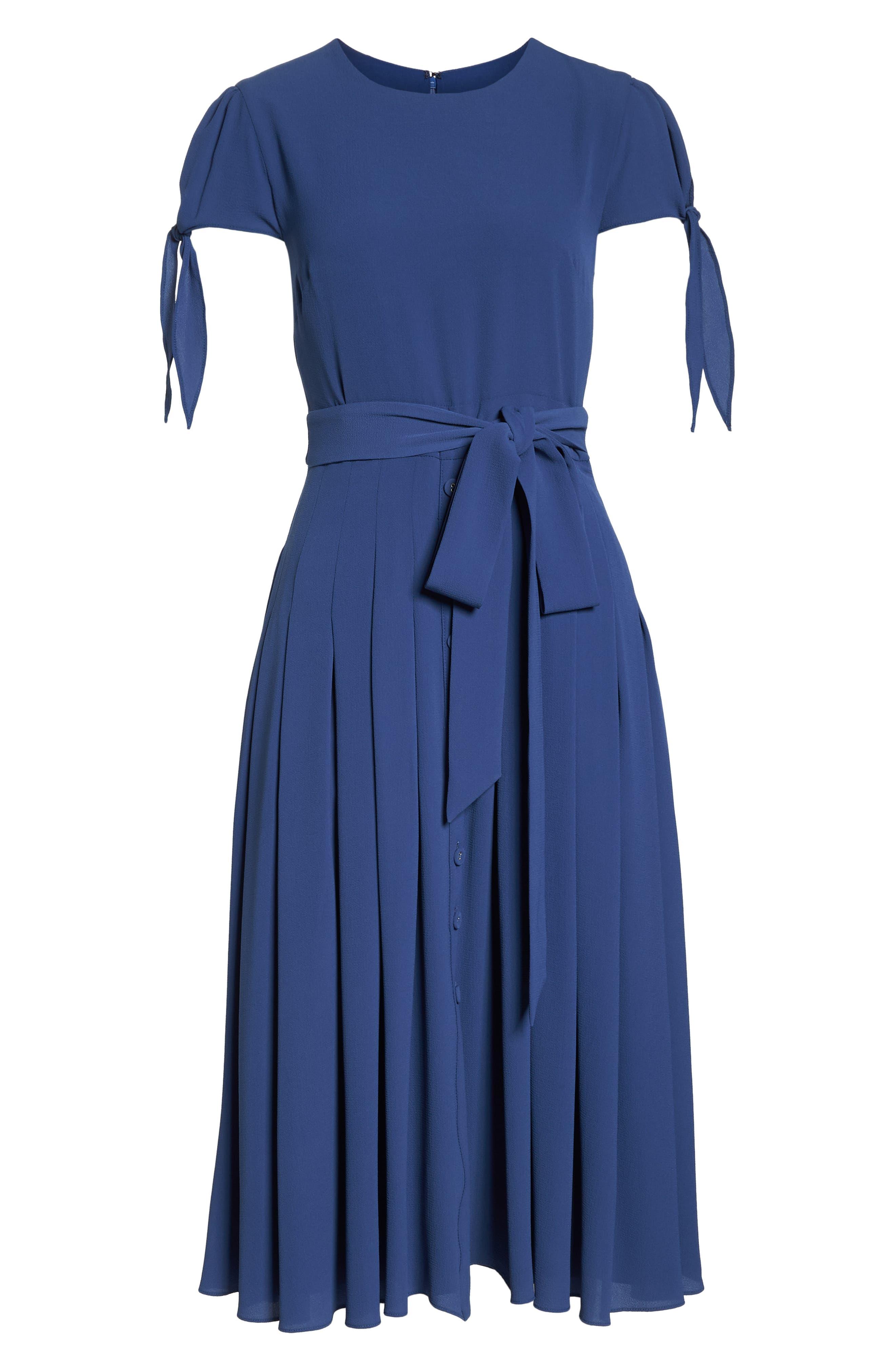 ,                             Bette Pleated Midi Dress,                             Alternate thumbnail 7, color,                             405