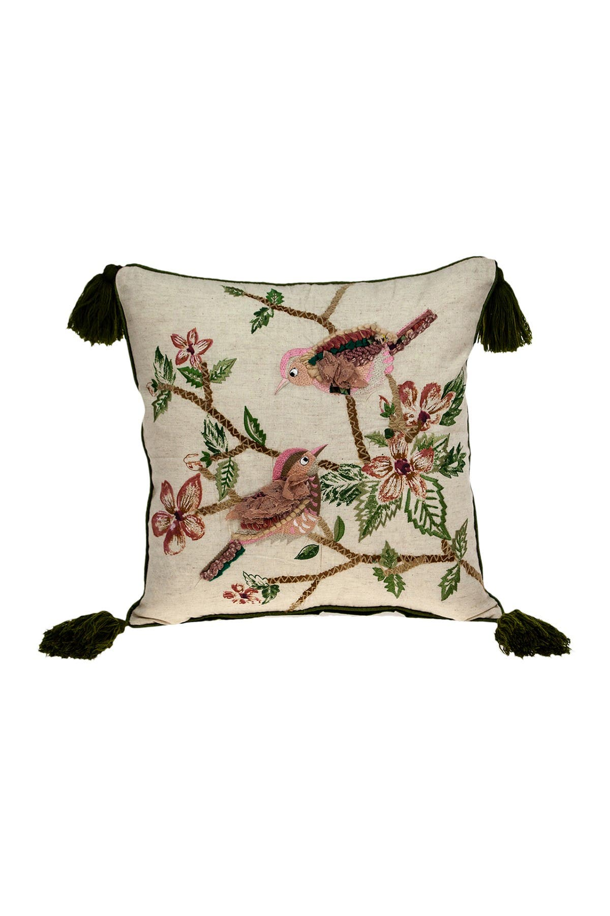 Image of Parkland Collection Willow Beige Throw Pillow