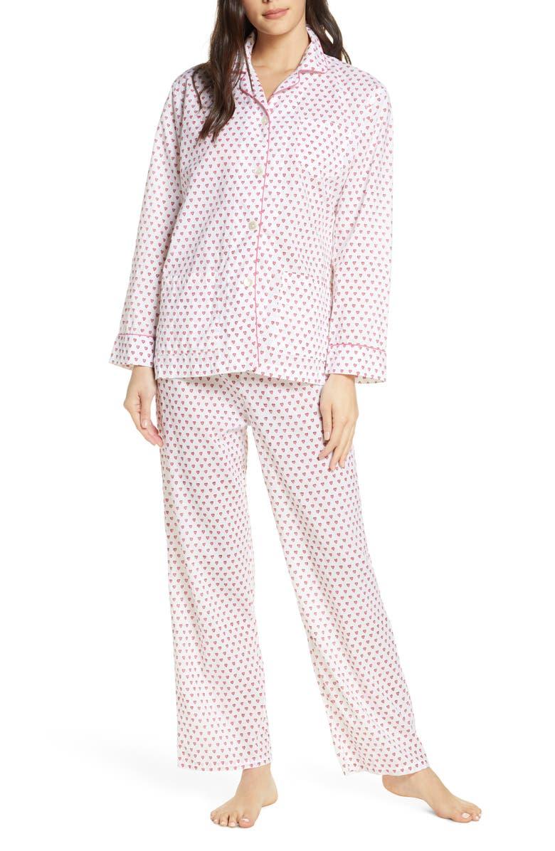 ROLLER RABBIT Hearts Pajamas, Main, color, PINK