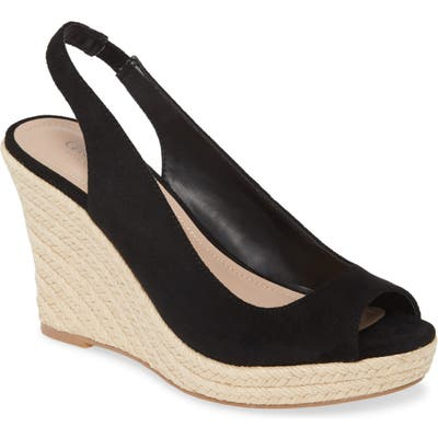 Charles By Charles David Laila Espadrille Slingback Wedge, Black