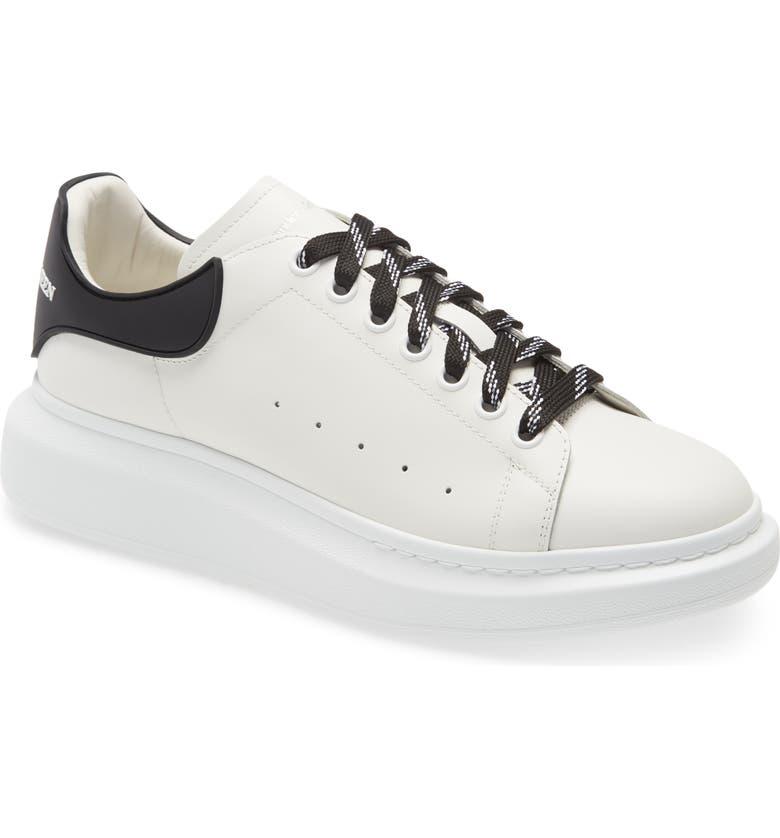 ALEXANDER MCQUEEN Oversize Low Top Sneaker, Main, color, WHITE/ BLACK/ WHITE
