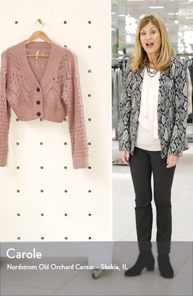 Chloe Crop Cardigan, sales video thumbnail