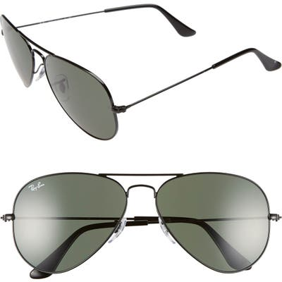 Ray-Ban Standard Original 5m Aviator Sunglasses - Black