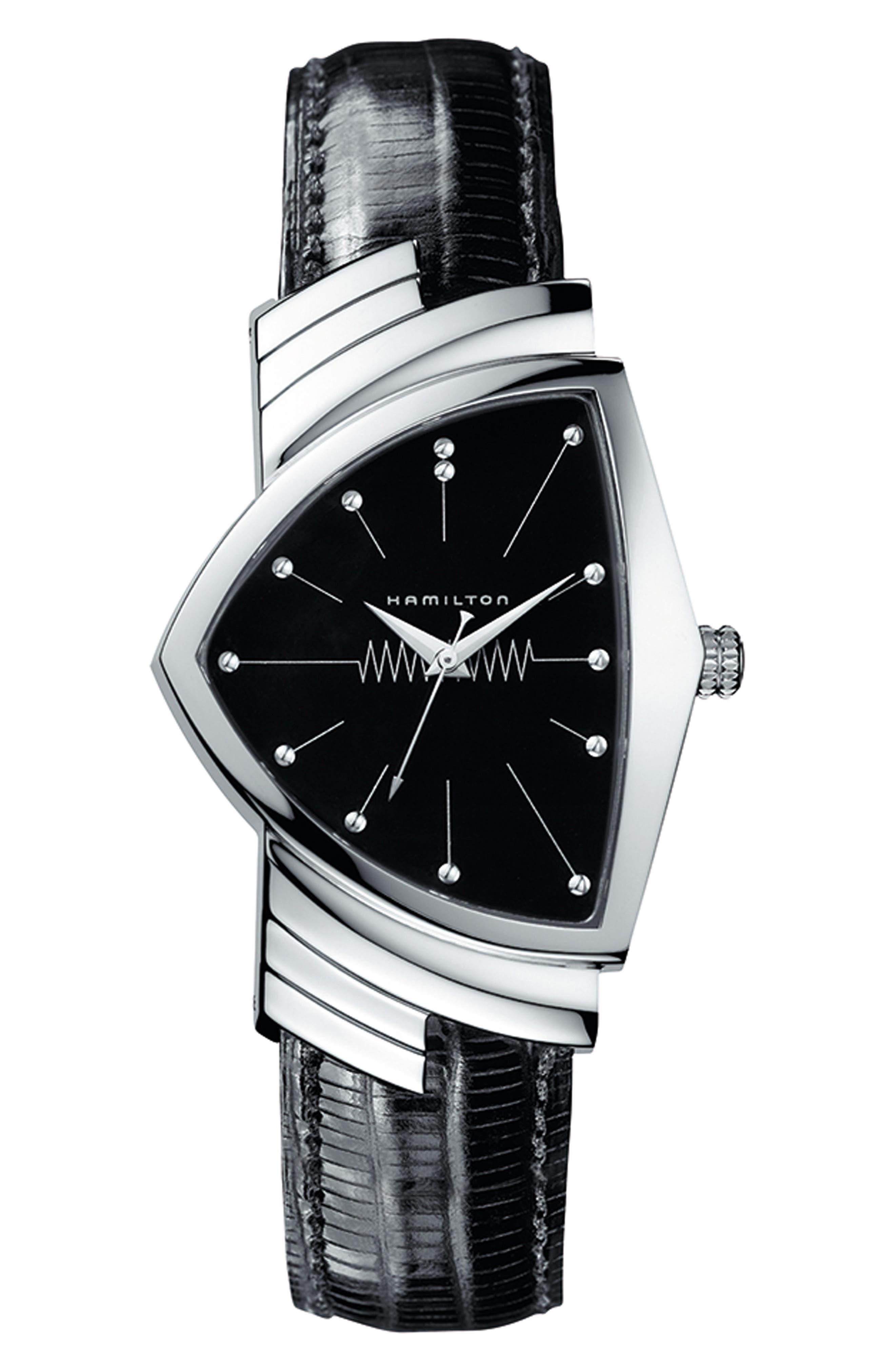 Ventura Leather Strap Watch