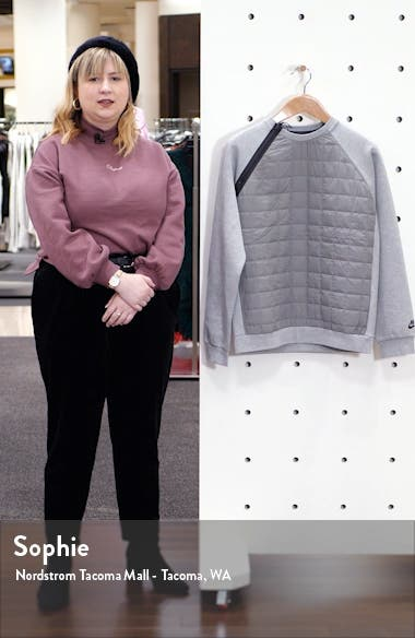 Sportswear Insulated Quilted Crewneck Sweatshirt, sales video thumbnail