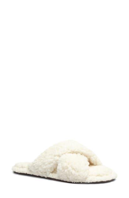 Schutz Women's Dynora Faux Fur Slide Slippers In Areia Faux Leather