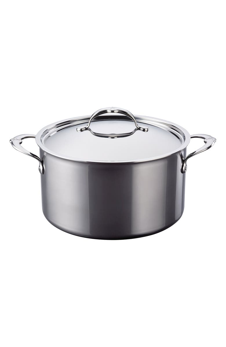 HESTAN 8-Quart Stockpot with Lid, Main, color, STAINLESS STEEL