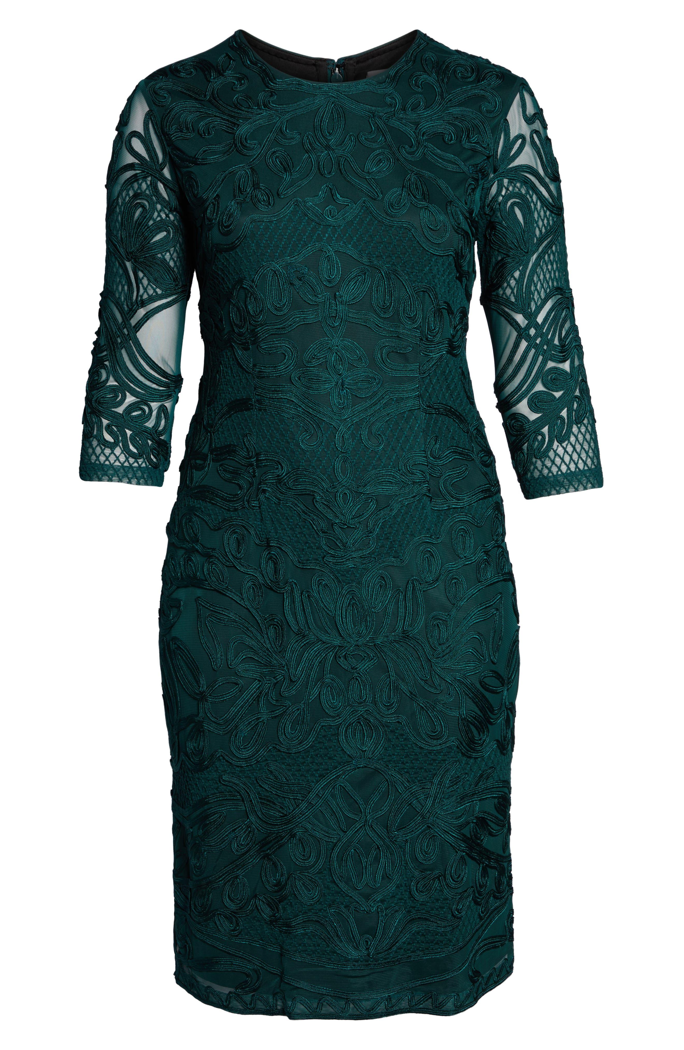 ,                             Soutache Sheath Dress,                             Alternate thumbnail 6, color,                             309